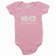 AB/CD Pink Baby Bodysuit