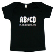 AB/CD Black Short Sleeve Kids T-Shirt