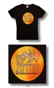 Led Zeppelin 1977 Tour Juniors Vintage Style T-Shirt