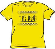 Taxi Logo Distressed Mens Tee Shirt