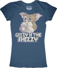 Gremlins Gizmo Gizzy is the Shizzy Juniors Tee Shirt