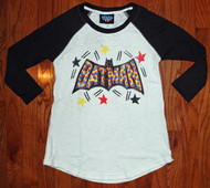 Batman Tri-Blend Raglan Womens Shirt by Junk Food Clothing