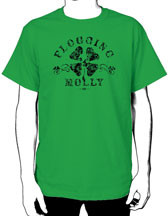Flogging Molly Green Shamrock t-shirt