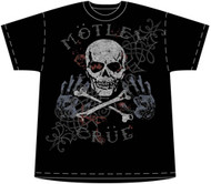 Motley Crue Pirate Skull Mens T Shirt