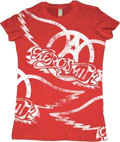 Aerosmith Draw The Line Juniors Tee Shirt