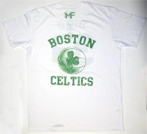 Boston Celtics Larry Bird Mens Vintage Style Tee Shirt by Mighty Fine