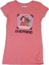 DAVID & GOLIATH EX-BOYFRIEND VINTAGE STYLE JUNIORS TEE SHIRT