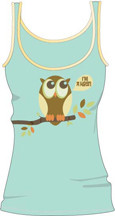DAVID & GOLIATH I'm A Hoot Juniors Beater Tank Top