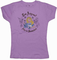 Alice in Wonderland Tea Anyone Vintage Style Girls Tee Shirt