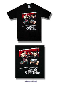Good Charlotte Torn Photo Mens Tee Shirt