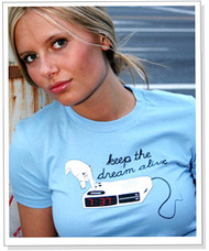 Keep The Dream Alive Blue Vintage Style Womens T-Shirt