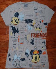 Disney Characters Friends Juniors Vintage T-Shirt