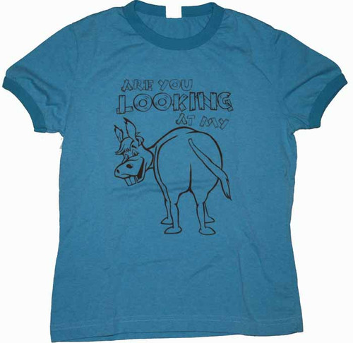 Are You Looking At My Donkey Vintage Style Juniors Tee Shirt