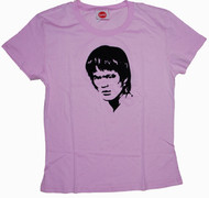 Bruce Lee Flock Face Juniors Tee Shirt