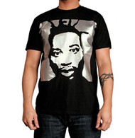 Ol Dirty Bastard Silver Icon Black Mens Tee Shirt