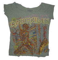 Iron Maiden Raw Edge Juniors Tee Shirt