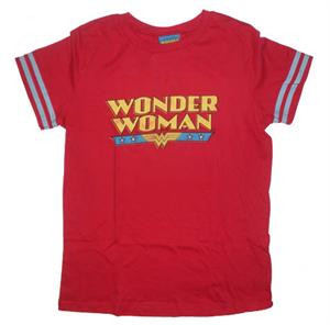 DC Comics Wonder Woman Football Style Juniors Tee Shirt