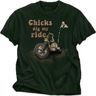 Chicks Dig My Ride Toddler Tee Shirt