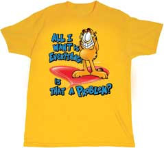 GARFIELD ALL I WANT IS EVERYTHING YOUTH TEE SHIRT