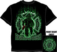 Fighting Irish Firefighter Mens Tee Shirt