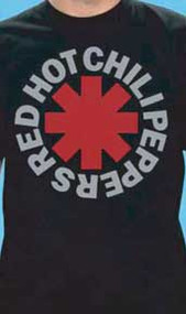 Red Hot Chili Peppers Classic Asterisk Logo Mens Tee Shirt