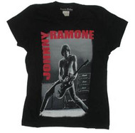 Joey Ramone Playing Juniors Tee Shirt