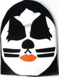 Kiss The Cat Mens Black Ski Mask