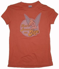 Disney Tinkerbell Let's Focus On Me Vintage Style Juniors Tee Shirt