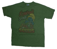 Junk Food Mens Spread Your Seeds Smurf Tee Shirt