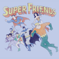 DC Comics Vintage Style Super Friends Juniors Tee Shirt