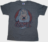Junk Food Mens Disney Snow White Grumpy Tri Blend Tee Shirt