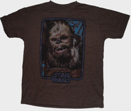 Junk Food Mens Star Wars Chewbacca Photo Tee Shirt
