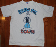 Mens Popeye Blow Me Down Tee Shirt by Junk Food Clothing