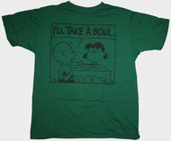 Mens Charlie Brown & Lucky I'll Take a Bowl Tee Shirt by Junk Food Clothing