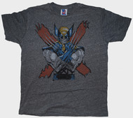 Mens Junk Food Tees Wolverine Tri Blend Tee Shirt
