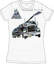 Def Leppard On Through The Night Vintage Style Womens Tee Shirt
