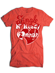 Single N Ready To Mingle Vintage Style Kids Tee Shirt