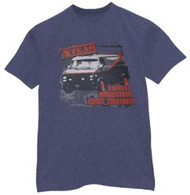 The A-Team Plan Heather Blue Mens Tee Shirt