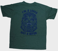 Junk Food Mens Star Wars Chewbacca Lover Not a Biter Tee Shirt