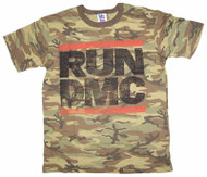 Mens Run DMC King of Rock Camoflauge Tee Shirt by Junk Food Clothing