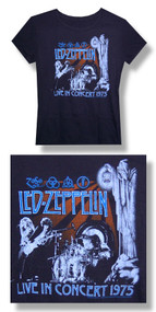 Led Zeppelin Live 75 30/1 Jr. Baby Doll Tee Shirt