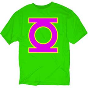 BRIGHT GREEN LANTERN LOGO MENS TEE SHIRT