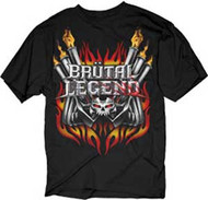 BRUTAL LEGEND HOT ROD ENGINE MENS TEE SHIRT