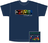 Coldplay Color Stripe Mens Tee Shirt