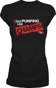 Jersey Shore Fist Pumping Like Champs Juniors Tee Shirt