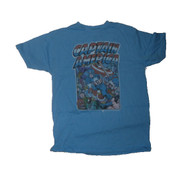 Mens Cool Blue Junk Food Captain America Tee Shirt