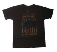 Mens The Beatles I'll Follow the Sun T-Shirt in Sable by Junk Food Clothing