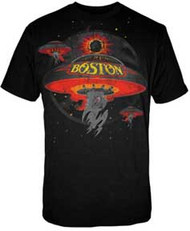 Boston Spaceship Mens Black Tee Shirt