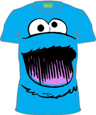 Sesame Street Cookie Monster Big Face Mens T-Shirt