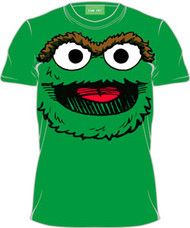 Sesame Street Oscar Big Face Mens Tee Shirt